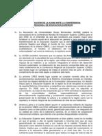 Declaracion CRES[1] 2008