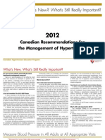 2012 Canadian Recommendations for the Management of Hypertension