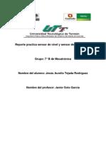 Reporte Practica Sensor de Nivel y Sensor de Temperatura