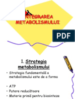 INTEGRAREA  METABOLISMULUI 1
