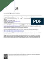 Krasner, Regime as Intervening Variables