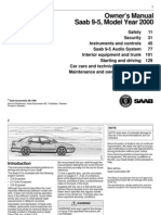 Saab 9-5 1998-2000 Model Year Manual