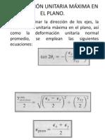 DEFORMACIÓN UNITARIA MÁXIMA EN EL PLANO (1)