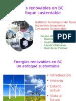 Energías renovables en BC