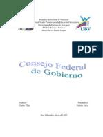 Consejo Federal de Gobierno Informe