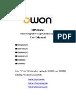 SDS Series Oscilloscopes USER_MANUAL_V1.5.4