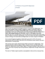 Strategic Encirclement of Pakistan in the Post 2014 Afghanistan