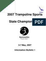 2007 Trampoline Sports State Championships Bulletin 1