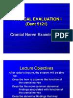 PE I CranialNerveExam 2007 Students