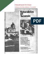 NATURALISTAS EN TUCUMAN por Sara Peña de  Bascary