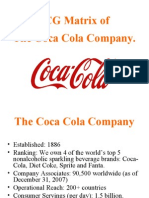 Bcg Matrix for Coco Cola
