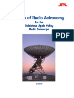 Basics of Radio Astronomy for the Goldstone-Apple Valley Radio Telescope