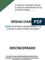 DESENCOFRADO