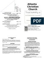 September 8, 2013 Church Bulletin