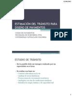 ESTIMACIÓN DEL TRÁNSITO PARA DISEÑO DE PAVIMENTOS