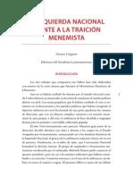 Cangiano, Gustavo - La Izquierda Nacional frente a la traición Menemista