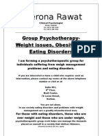 Group Psychotherapy- Eating Disorders