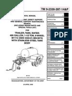 TM 9-2330-397-14P  M1112 TRAILER, TANK, WATER 400 GALLON  PART 1