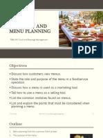 The Menu and Menu Planning
