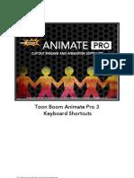 Toon Boom Animate Pro 3 Keyboard Shortcuts