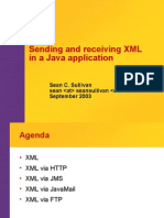 Sending and receiving xml in java application