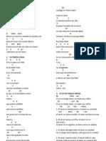Canciones Matrimonio Notas