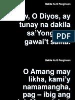 Dakila Ka O Panginoon