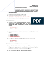 Banco de Preguntas, Modulo Desarrollo Local