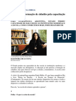 Entrvista resumida paula sibilia Folha de São Paulo