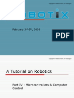 A Tutorial on Robotics Part IV