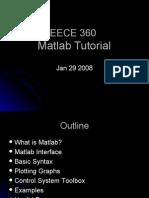 Matlab Tutorial for EECE 360