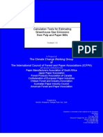 Calculation Tools for Estimating Greenhouse Gas Emissions Pulp & Paper Mills