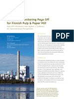 Condition Monitoring Pays Off for Finnish Pulp Paper Mill