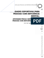 Atividades Esportivas Para Pessoas Com Deficiencia Mental Livro Maarcia