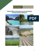 Programas nacionales de inversión en recursos hídricos