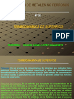 TERMODINÄMICA DE SUPERFICIE