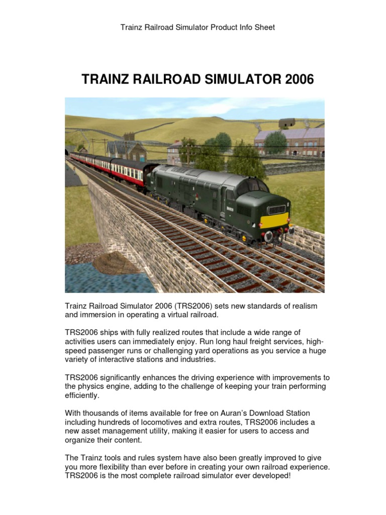 Trainz Railroad Simulator 2006 | Rail Transport | Simulation
