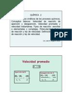 Clase Cap 2.1 Cinetica Quimica 1- Aparicion Hasta Factores
