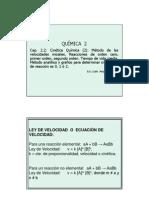 Clase Cap 2.2 Cinetica Quimica 2- Ordenes Hasta Colisones y Arrhenius
