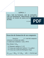 Clase Cap 1.4 Calor de Formacion Hasta Ley de Hess