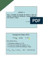 Clase Cap 1.5 Calor Formacion - E Enlace - Disolucion - Born-Haber