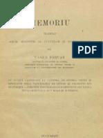 Vasile Pârvan, Memoriu înaintat Onor. Minister al Cultelor şi Instrucţiunii Publice