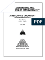The Monitoring and Evaluation of Empowerment
