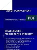 Asset Management,A Maintenance Perspective