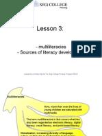 Lesson 3 Multiliteracies