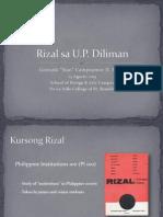 "Rizalekturo - Rizal sa U.P. Diliman - Gonzalo ""Siao"" Campoamor"