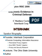 Electronic Evidence in Criminal Defense