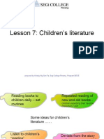 Lesson 7 Children's Literature