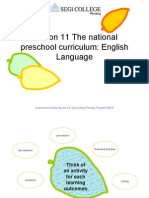 Lesson 11 National Preschool Curriculum