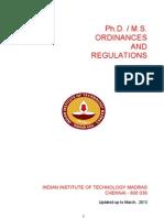 Msphd Ordinances Regulations -13.06-2013